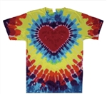 3 XL heart tie dye t-shirt