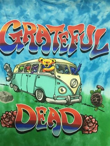 4XL Grateful Dead VW Bus with the Dancing Bears tie dye shirt