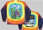 Alice in Wonderland Long Sleeve tie dye shirt