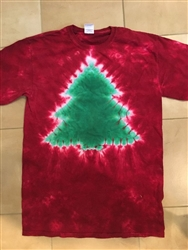 Christmas Tree tie dye t-shirt.
