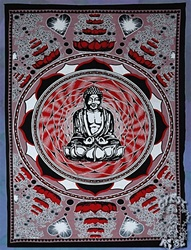 meditating Budda Wall Tapestry, college wall tapestry, cheap wall tapestry