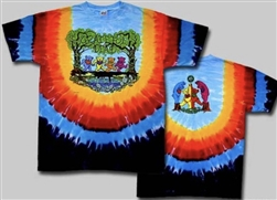Grateful Dead Wood Bears, Dancing Bears tie dye t-shirt, dancing bears t-shirt, Grateful Dead Dancing Bears tie dye shirt