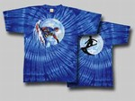 Grateful Dead Snow Boarding tie dye t-shirt