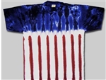 kids tie dye t-shirt, American Flag.  The tie dye shirts are not fade away, pre-shunk t-shirts.  USA Flag tie dye t-shirt.  US Flag tie dye shirt.  4th of July tie dye t-shirt.