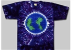 kids tie dye t-shirt, earth.  The tie dye shirts are not fade away, pre-shunk t-shirts, world tie dye tee