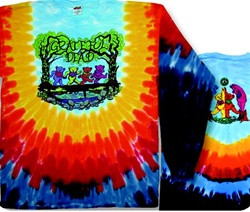 Grateful Dead Wood Bears long sleeve tie dye