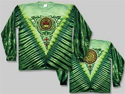 Grateful Dead Celtic Knot Green Steal your Face long sleeve tie dye, Classic Grateful Dead Steal Your Face long sleeve shirt