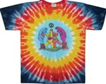 Kids Grateful Dead Wood Bears, Children's Dancing Bears tie dye t-shirt, Kids Grateful Dead Tie Dye shirt, small Grateful Dead tie dye