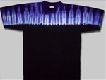 Amethyst Gem Top tie dye shirt, Black and Purple tie dye shirt