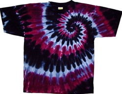 Pink, grey and black tie dye shirt by allcollegestuff.com, pink tie dye swirl, pink tie dye shirt, dark pink tie dye shirt