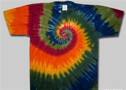 Nature's swirl tie dye shirt