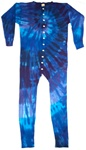 Blue twilight swirl Union Suit or we like to call them one piece long john's