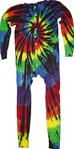 black swirl tie dye Union Suit or we like to call them one piece long john's