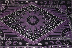 Purple Burning Sun Wall tapestry, wall tapestry, cheap wall tapestry