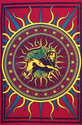 Rasta Lion Rastafarian tapestry, college wall tapestry, cheap wall tapestry