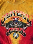 Grateful Dead Motorcycle tie dye t-shirt