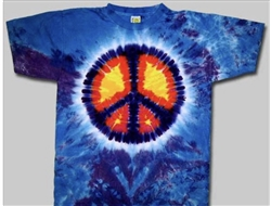 4XL Peace Sign tie dye t-shirt