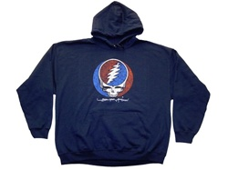 Distress Your Face Grateful Dead Navy Blue Hoodie
