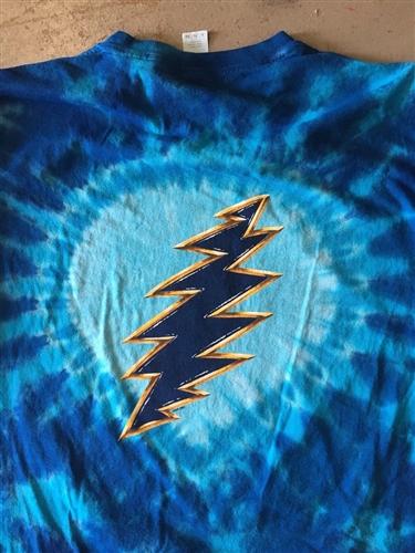dd144ddeeb61 Olympics Skiing Fire on the Mountain Grateful Dead tie dye t-shirt ...