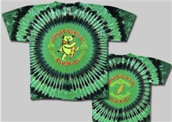 Dancing Celtic Bear Grateful Dead tie dye t-shirt