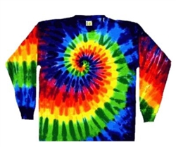 Long Sleeve Tie Dye T-Shirt, Rainbow swirl long sleeve tie dye shirt