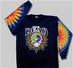 Grateful Dead Steal Your Lightning long sleeve tie dye, Classic Grateful Dead Steal Your Face long sleeve shirt