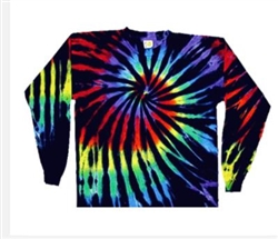 Stained Glass, black long sleeve tie dye t-shirt, sundog long sleeve tie dye shirt, Sun Dog tie dye shirt, Sun Dog long sleeve tie dye shirt