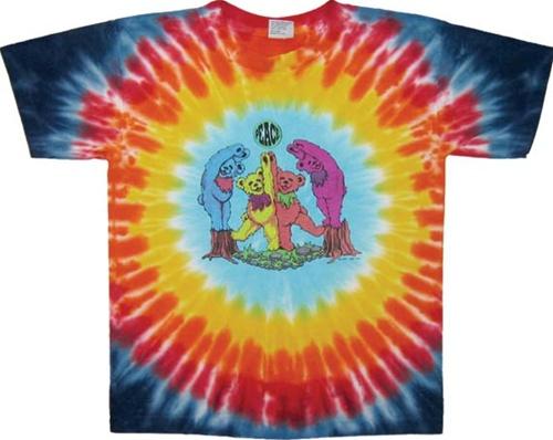 554fbbd1 Kids Grateful Dead Wood Bears, Children's Dancing Bears tie dye t-shirt, Kids  Grateful Dead Tie ...