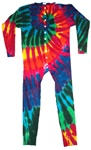 Extreme Rainbow swirl Union Suit or we like to call them one piece long john's
