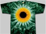 Green Sunflower tie dye t-shirt.