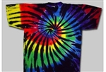 Black stain glass tie dye tee by allcollegestuff.com