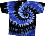 Blue, gray and blacktie dye shirt by allcollegestuff.com