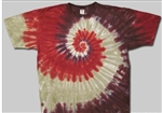 Canyon Red tie dye t-shirt