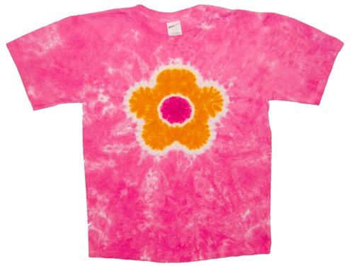 Pink flower tie dye t shirt mightylinksfo